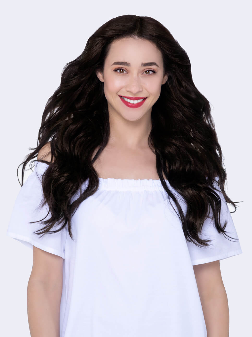 Natural Hair Clip Ins | Real Human Hair Extensions | 20 Inch Hair Extensions | Hair Extensions For Thin Hair | Remy Hair