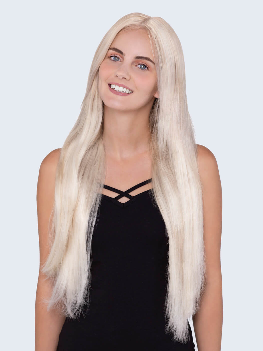 Hair Extensions For Regular Hair | Platinum Blonde | Clip In Hair| 20 Inch Hair Extensions | Remy Clip In Hair Extensions