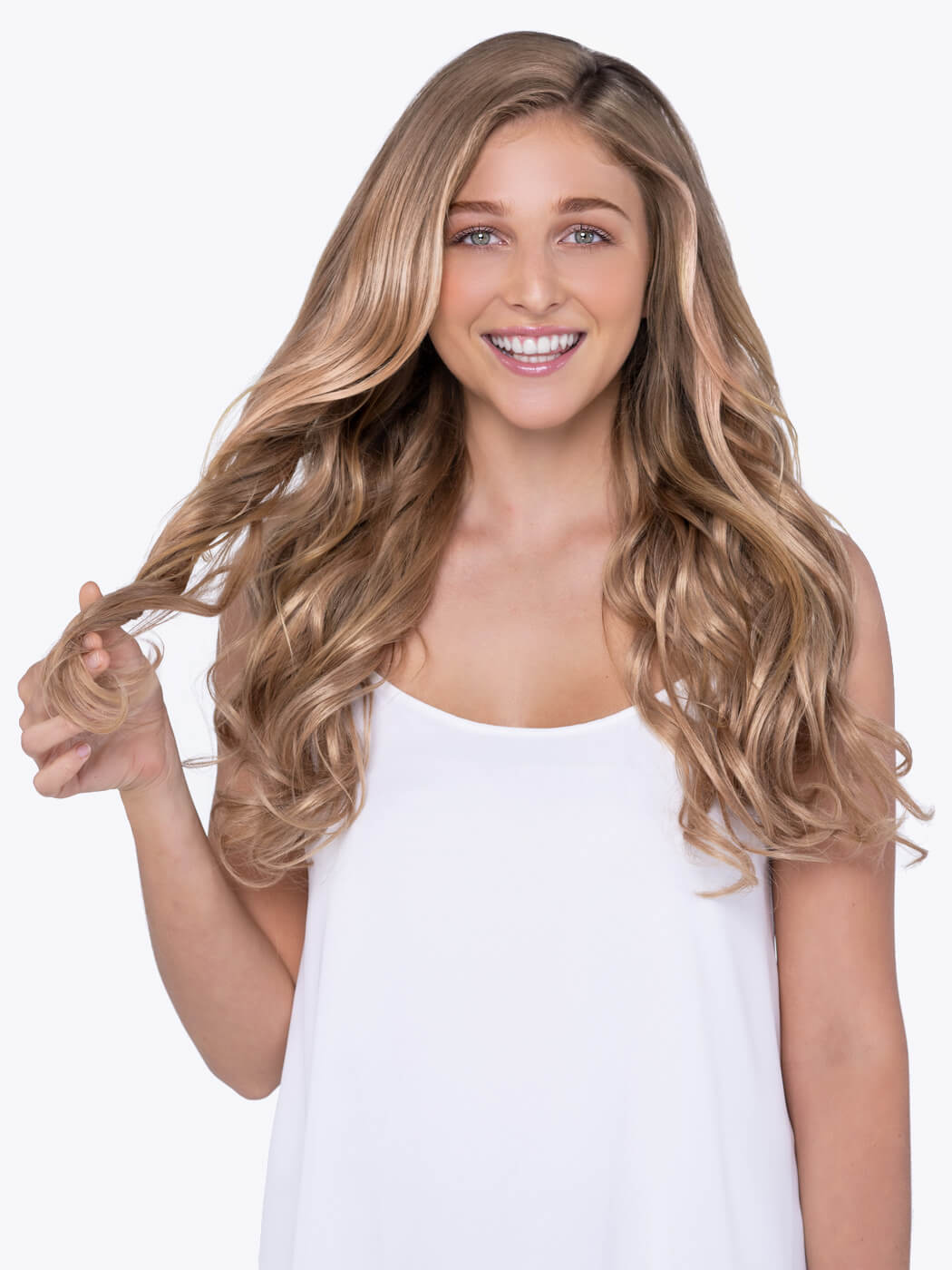 Clip In Human Hair Extensions | 20 Inch Hair Extensions | Blonde Extensions | Strawberry Blonde | Remy Hair Extensions