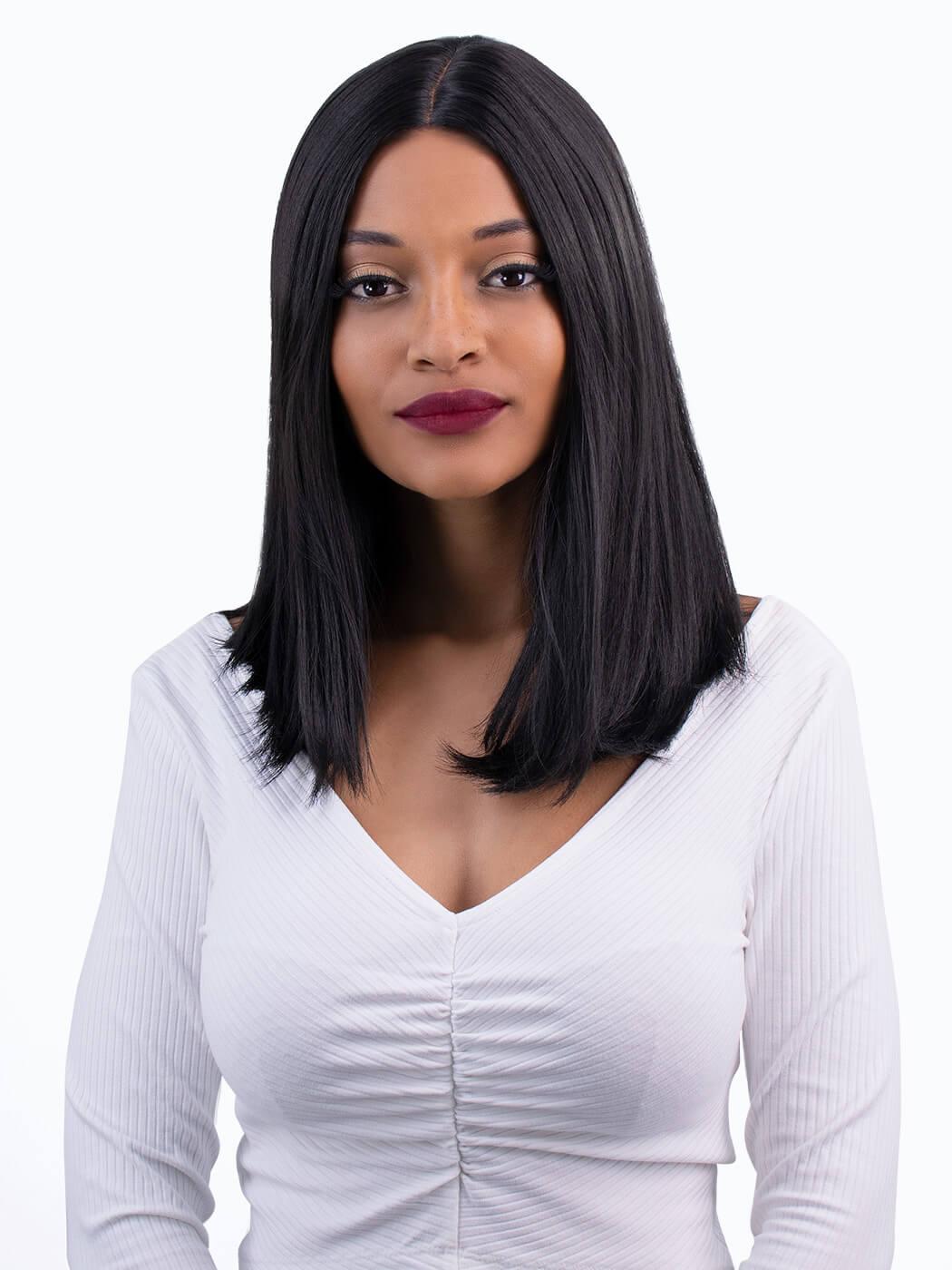 Ebony - Tim Carli lob wig | Straight Lob Wig | Human Hair Wig